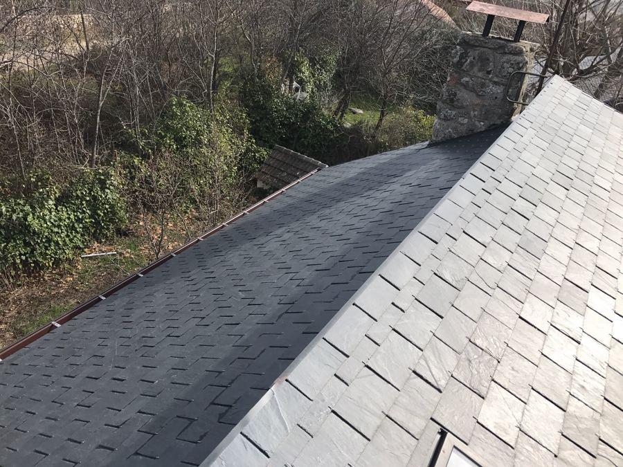 Detalles de cumbrera de tejado
