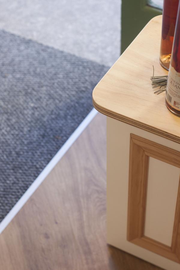Detalles del mobiliario modular hecho a medida