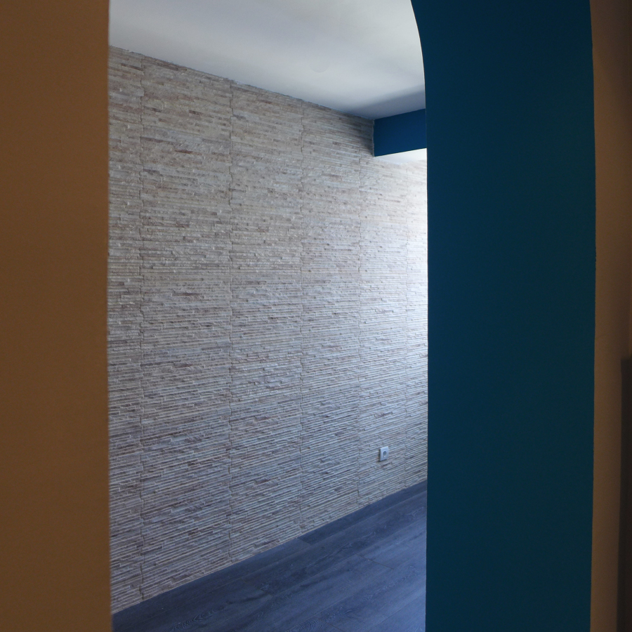 Detalles pared piedra