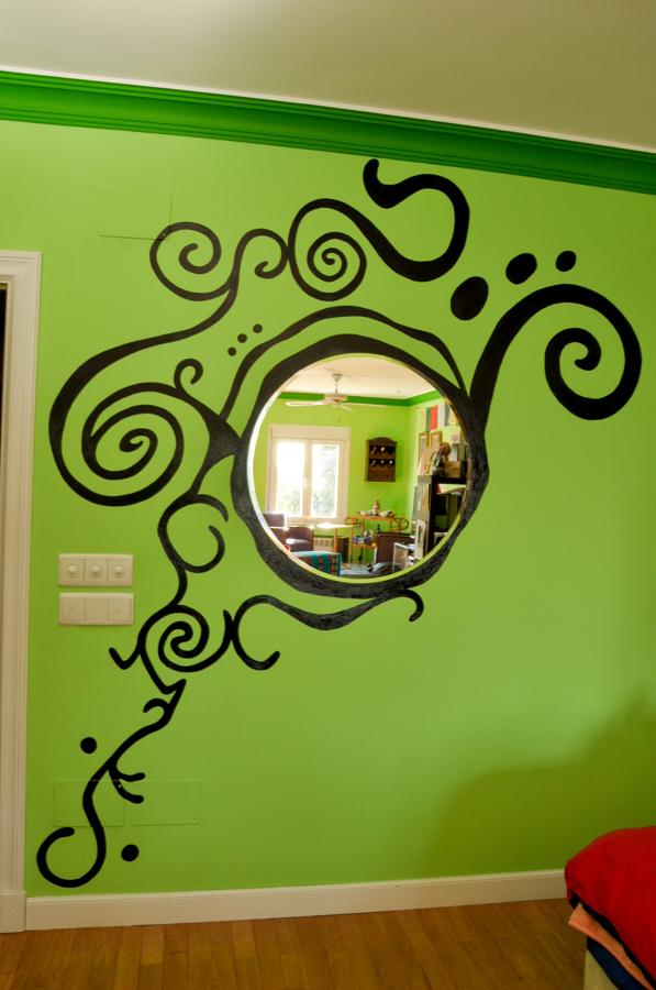 Dibujo decoración espejo.