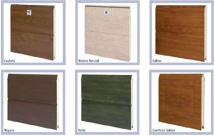 Diferentes acabados en imitación madera