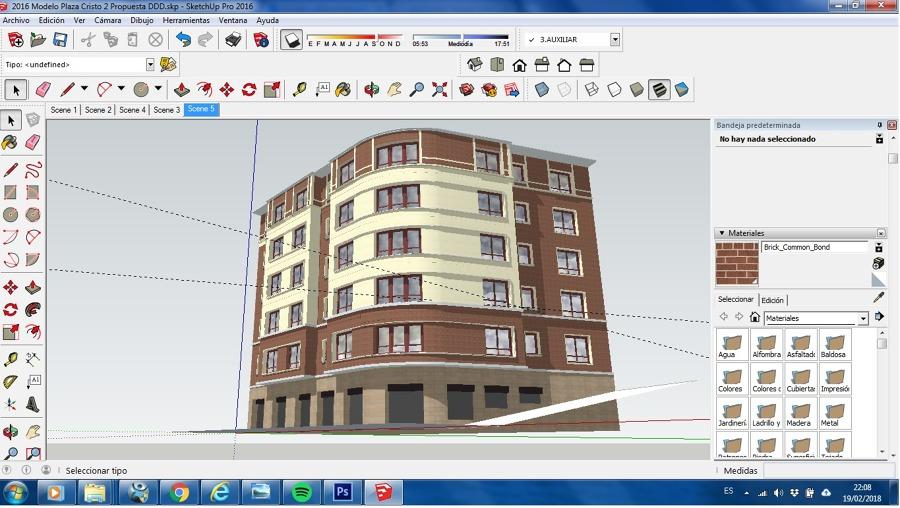 Diseño 3 fachada eps acabado acrílico