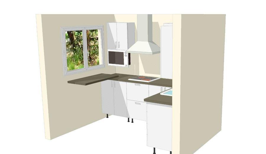 Diseño 3d cocina.