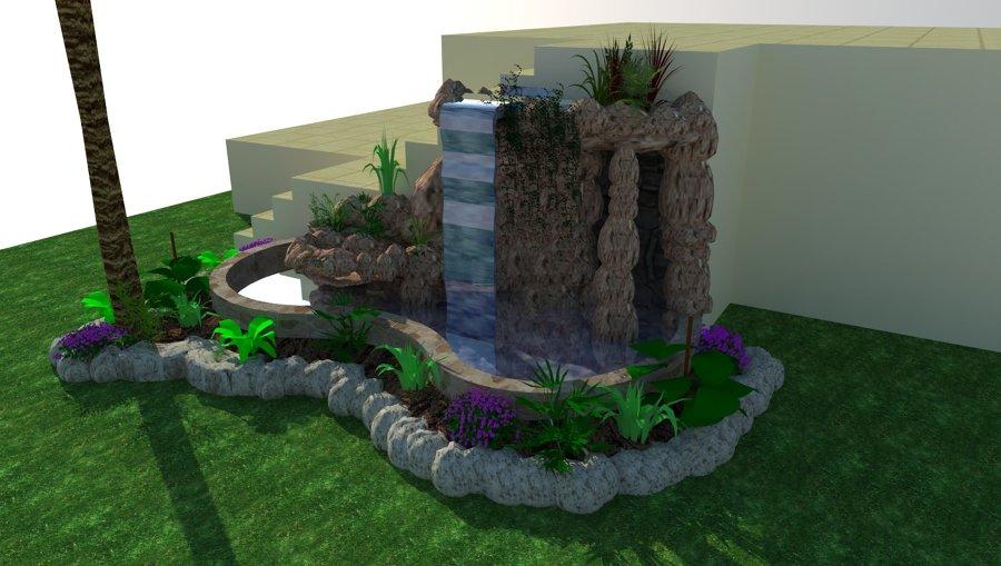 Diseño 3D de catarata modelo SAMARA