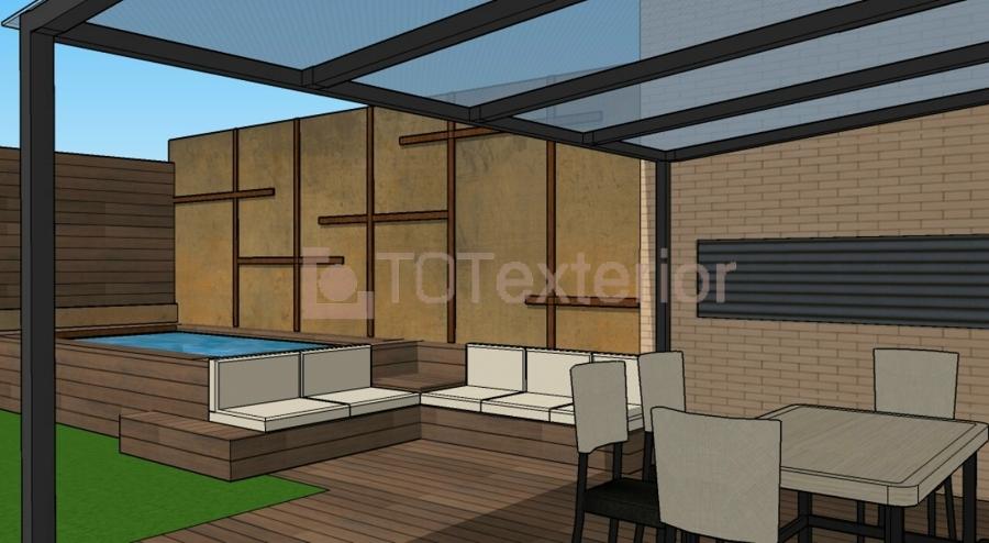 Foto dise o 3d de la reforma de la de for Disenos de terrazas exteriores