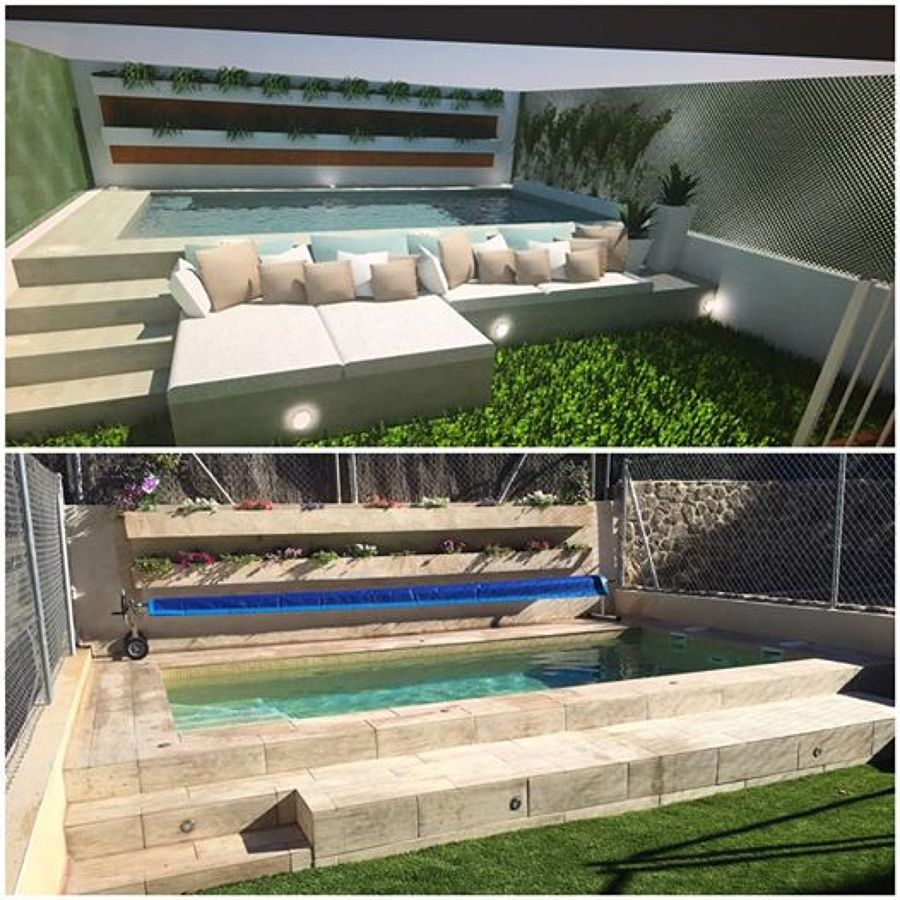 Foto dise o 3d de piscina y jard n de ardigral 1277224 - Jardin y piscina ...