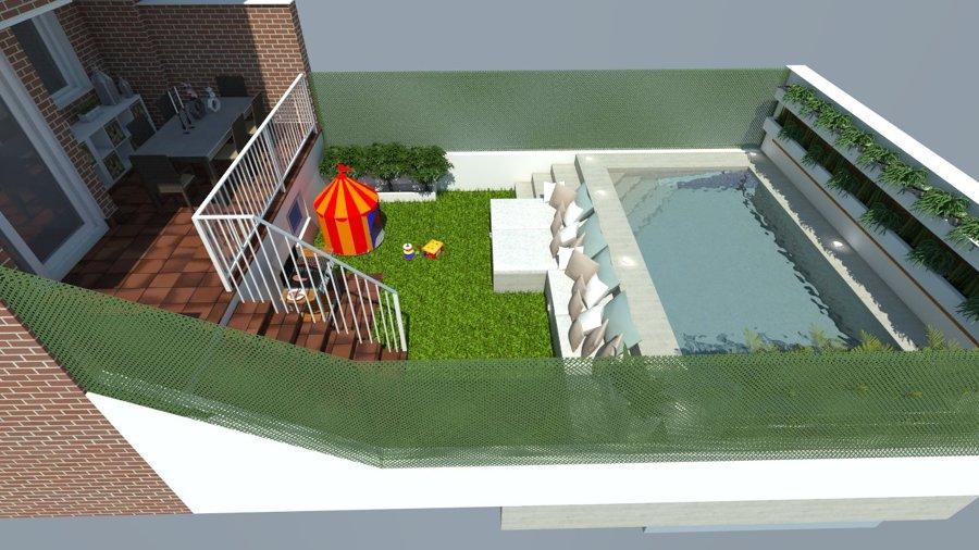 diseño 3D de piscina y jardín