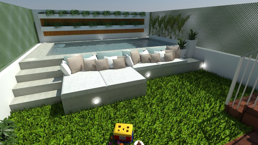 Dise o de jardin con piscina de 5x2 5 ideas for Piscina 5 x 10
