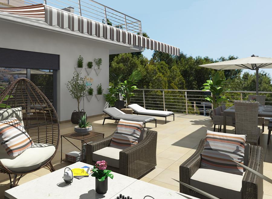 Diseño 3D terraza