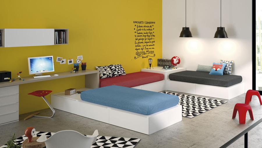 Foto dise o de dormitorio juvenil de muebles jjp de for Diseno muebles de dormitorio