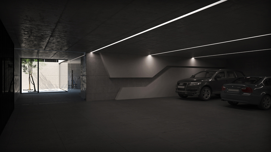 Foto dise o de garaje con estilo minimalista de grupoias - Garajes de diseno ...