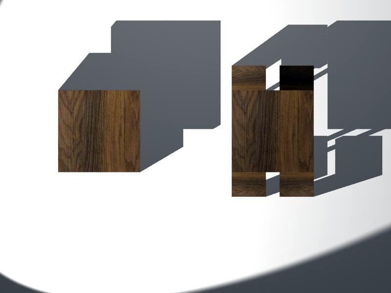 Diseño de mesa con 4 sillas integradas (abierto/cerrado)