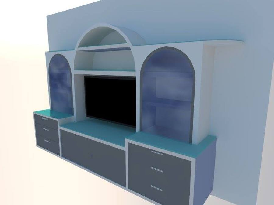 Diseño de mueble de escayola en 3D
