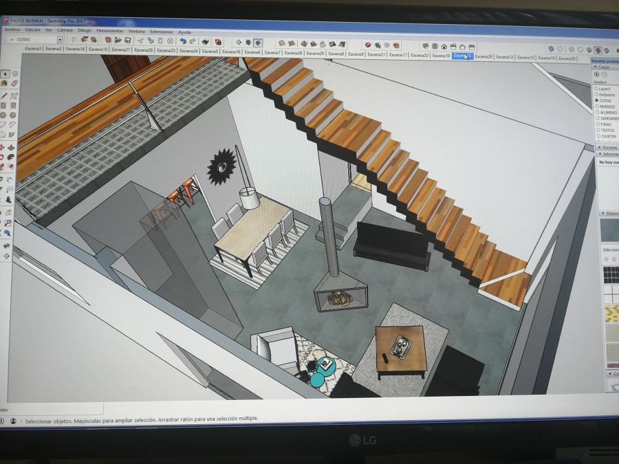 Diseño escaleras y pasarela