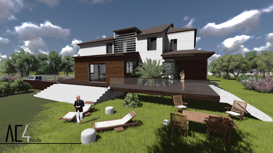 Propuesta de dise o vivienda unifamiliar en las rozas for Diseno casas unifamiliares