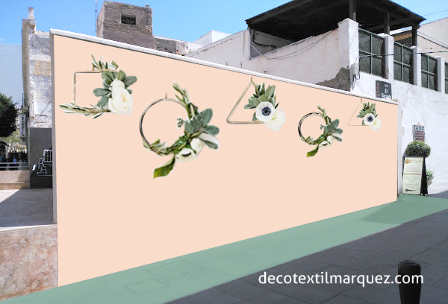 Diseño floral para desfile de moda.