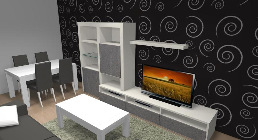 Diseño frontal mueble salón