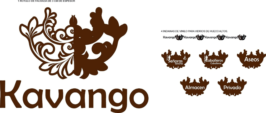 Diseño imagen corporativa Kavango - L'estilo interiorismo