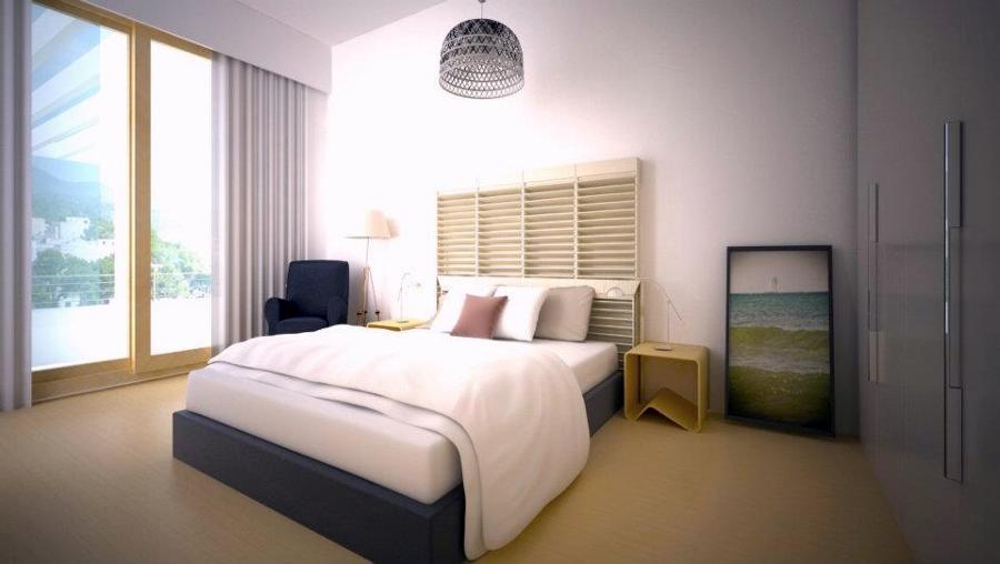 Diseño + Infografía habitación vivienda Portocolom ( Mallorca)