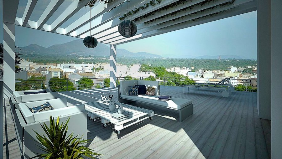 Diseño + Infografía terraza Portocolom ( Mallorca)