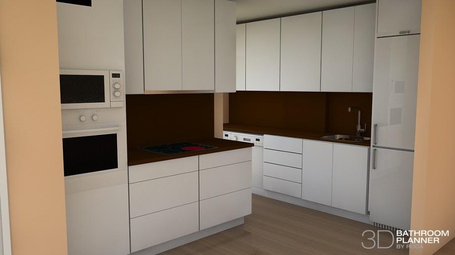 Diseño inicial cocina en 3d