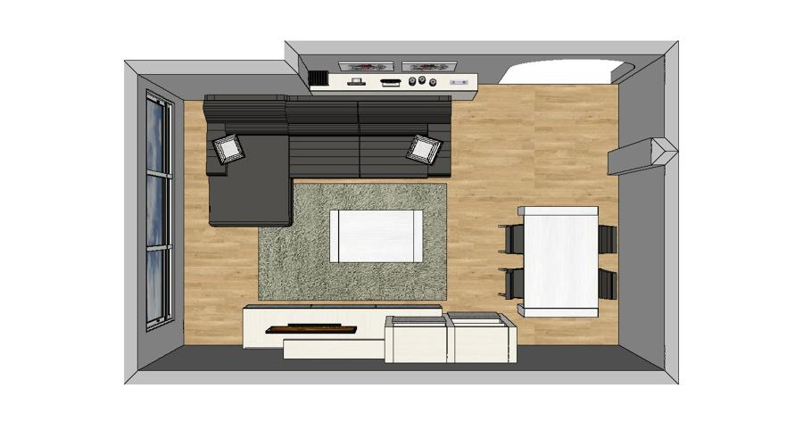 Montaje sal n y dormitorio ideas muebles - Diseno de salones ...