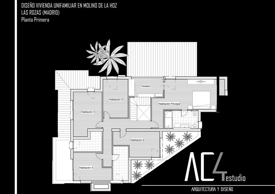 Foto dise o planta primera de ac4 estudio arquitectura y - Estudio arquitectura valladolid ...