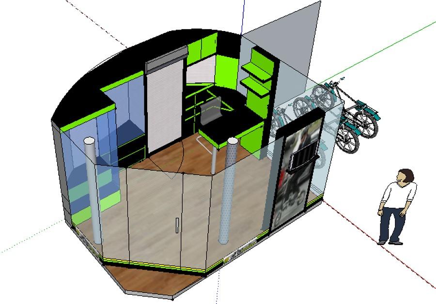 diseño tienda bicis