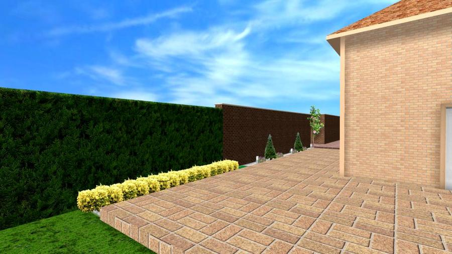 Diseño de jardín en 3d