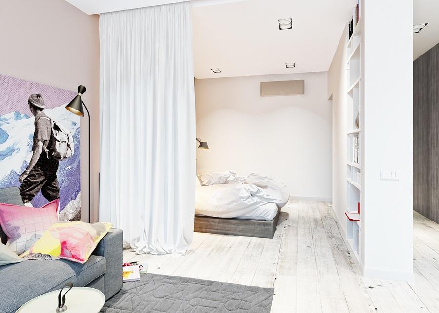 C mo dividir espacios y crear diferentes ambientes en casa for Cortinas para separar ambientes
