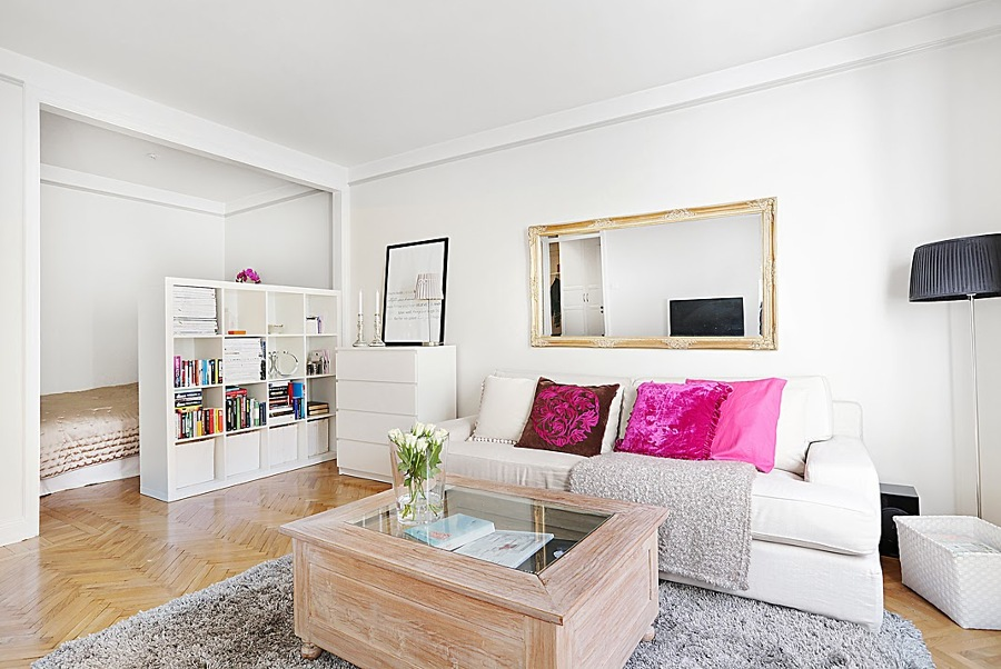 C mo dividir espacios y crear diferentes ambientes en casa for Como decorar un piso de 40 metros cuadrados