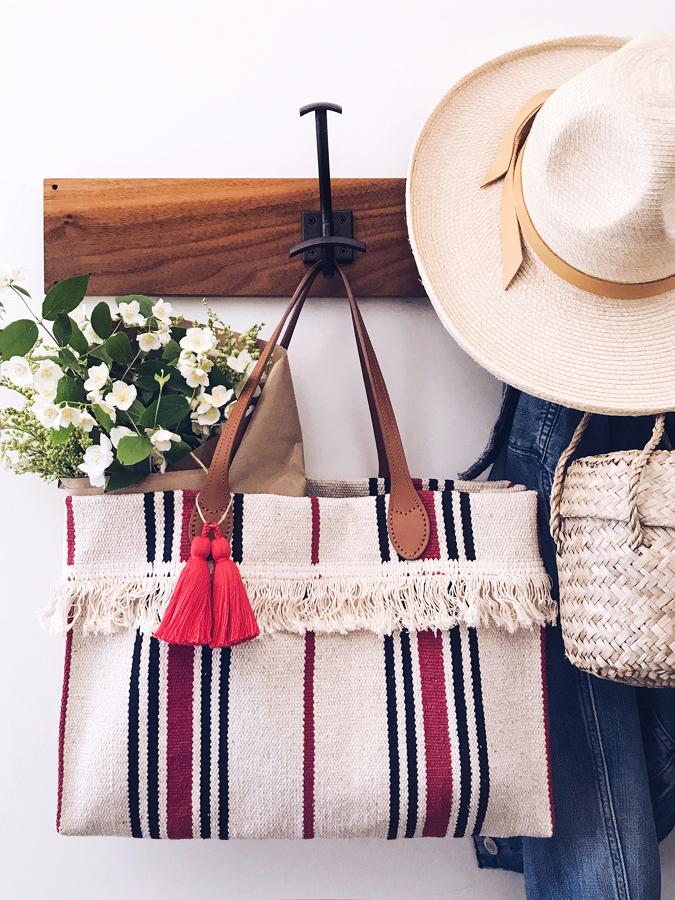 DIY PRIMAVERAL bolso con alfombra de IKEA