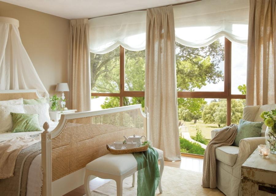 Decoraci n del dormitorio en blanco y beige ideas - Dormitorio beige ...