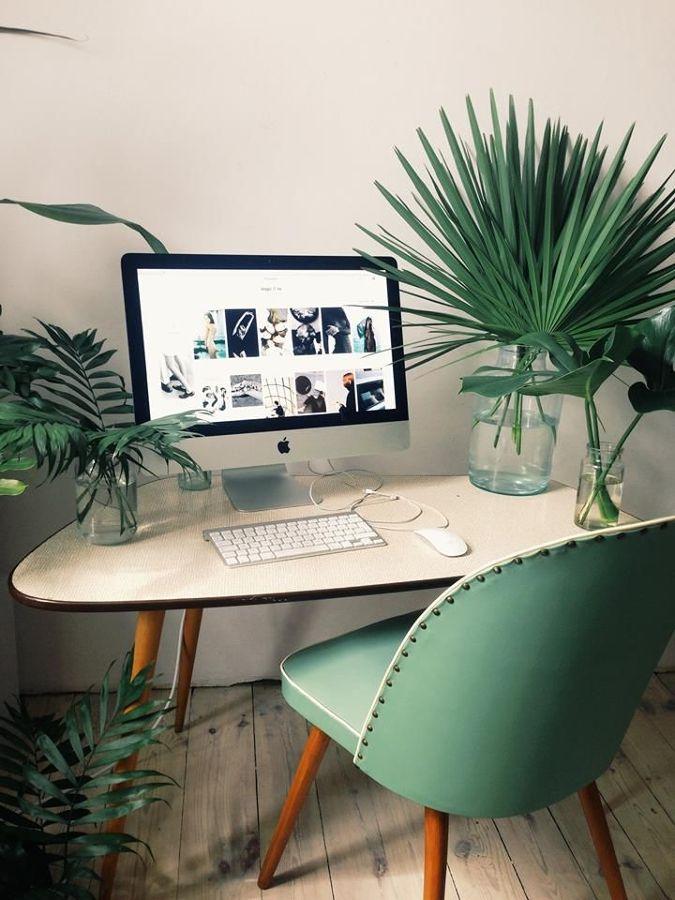 Dormitorio silla verde