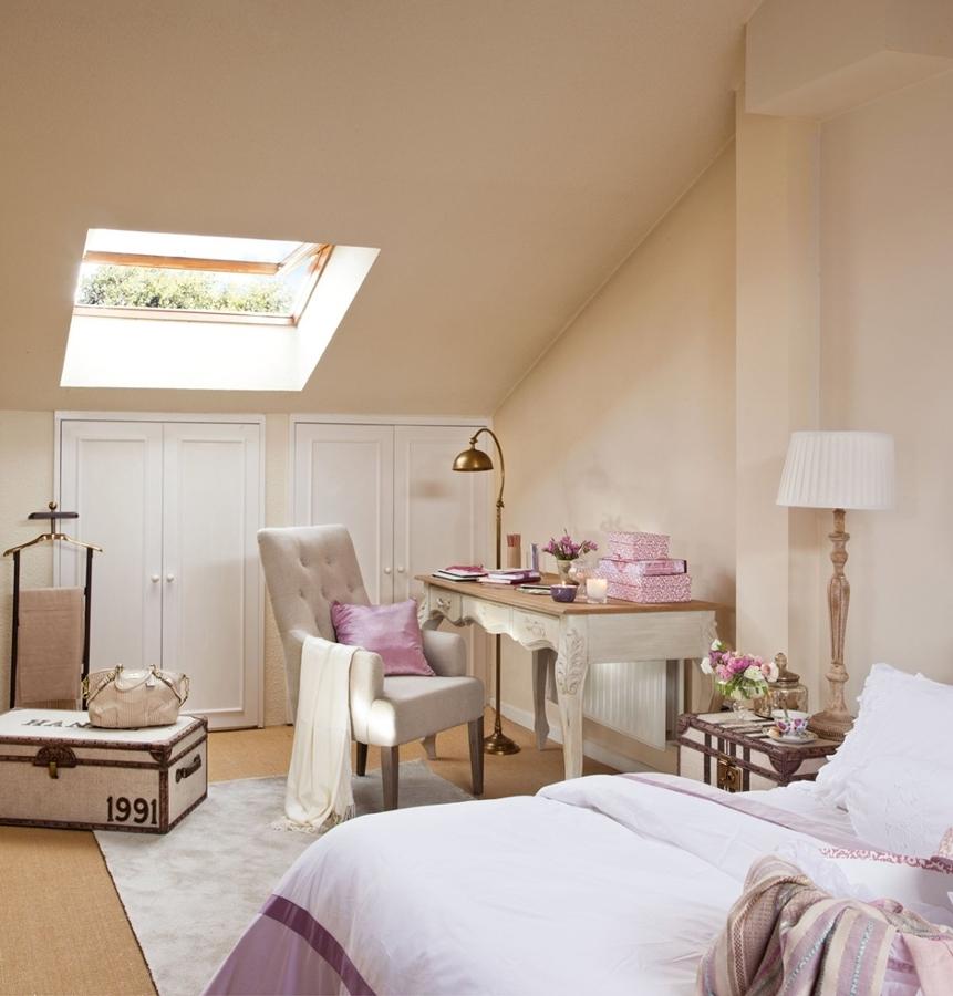 La belleza de los dormitorios abuhardillados ideas - Como decorar una buhardilla ...