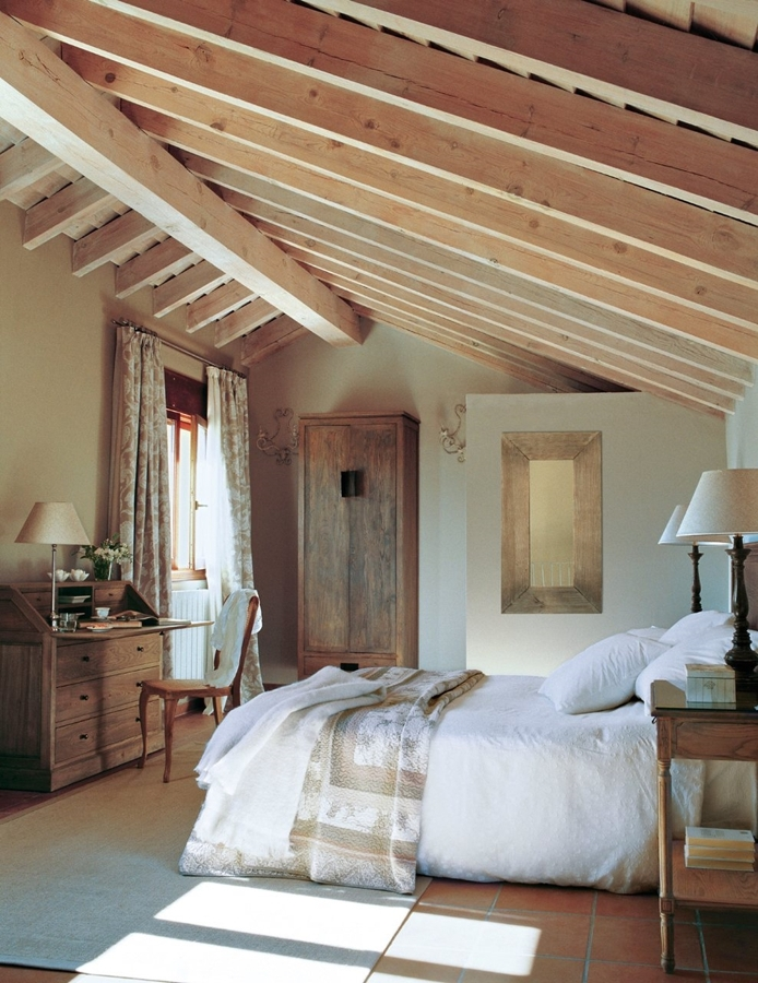 La belleza de los dormitorios abuhardillados ideas - Iluminacion habitacion matrimonio ...