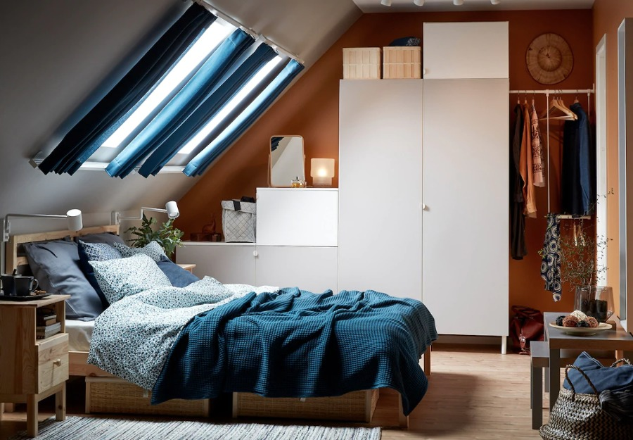 Dormitorio abuhardillado IKEA