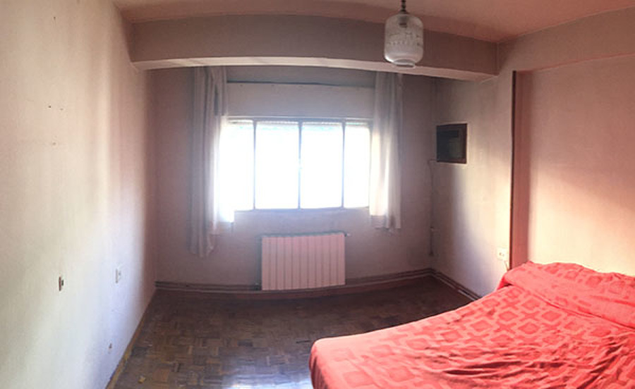 Dormitorio anticuado.
