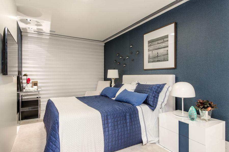 Dormitorio azul