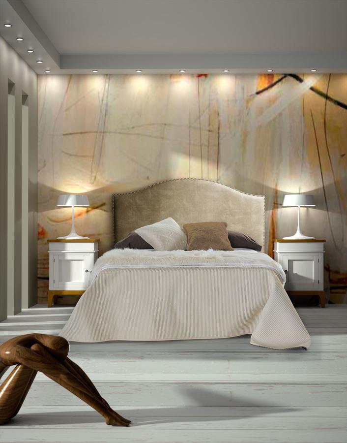 Foto dormitorio blanco y madera l neas rectas de carmen - Maderas moral jaen ...