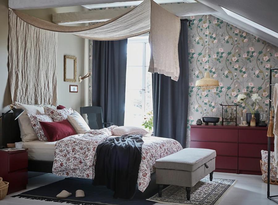 Dormitorio clásico cama IKEA
