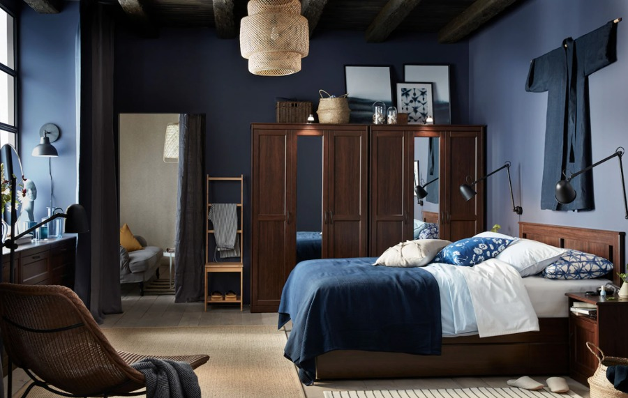 Dormitorio clásico con colchón IKEA