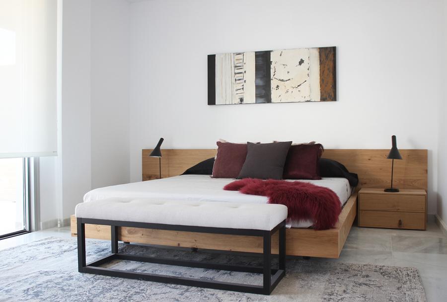 Dormitorio colores tierra Son Quint
