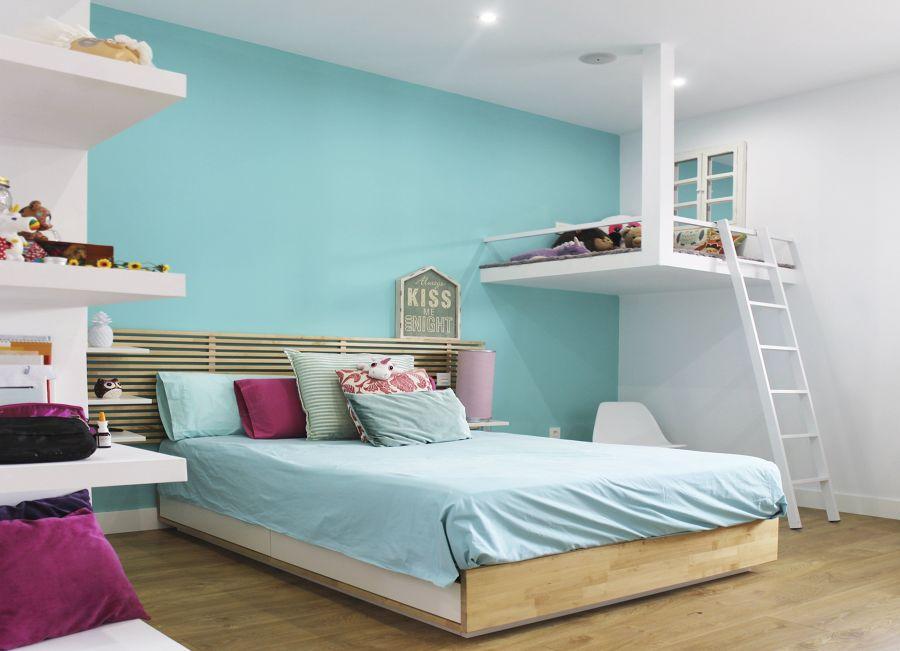Dormitorio con altillo
