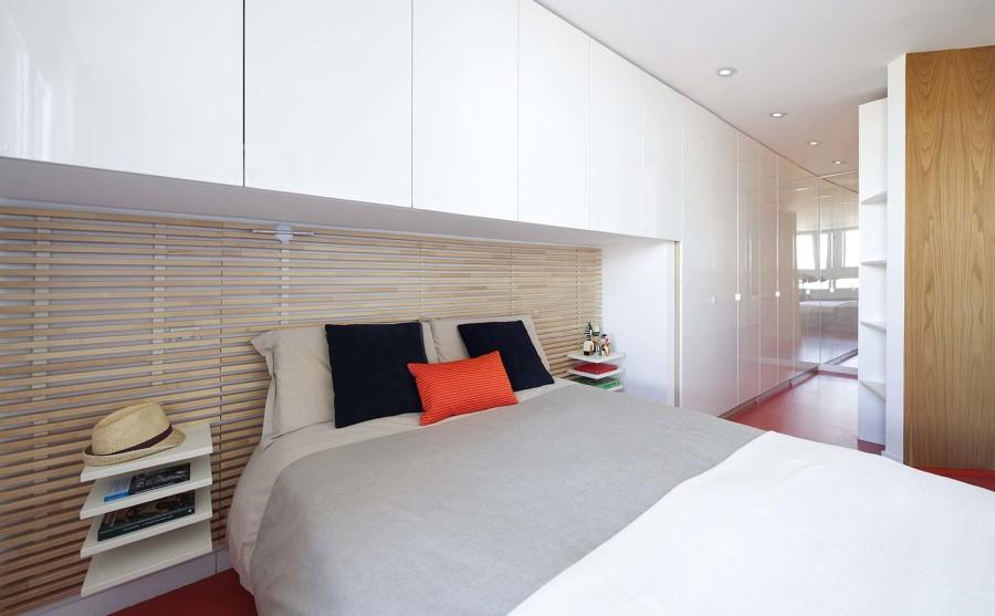 Foto dormitorio con cabecero de obra 1446489 habitissimo - Cabeceros de obra ...