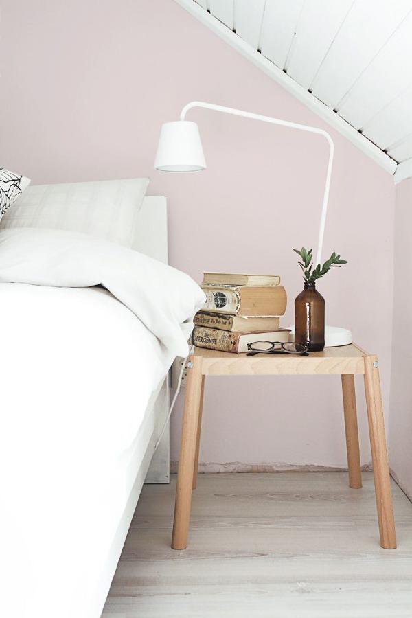 dormitorio con color rosa cuarzo