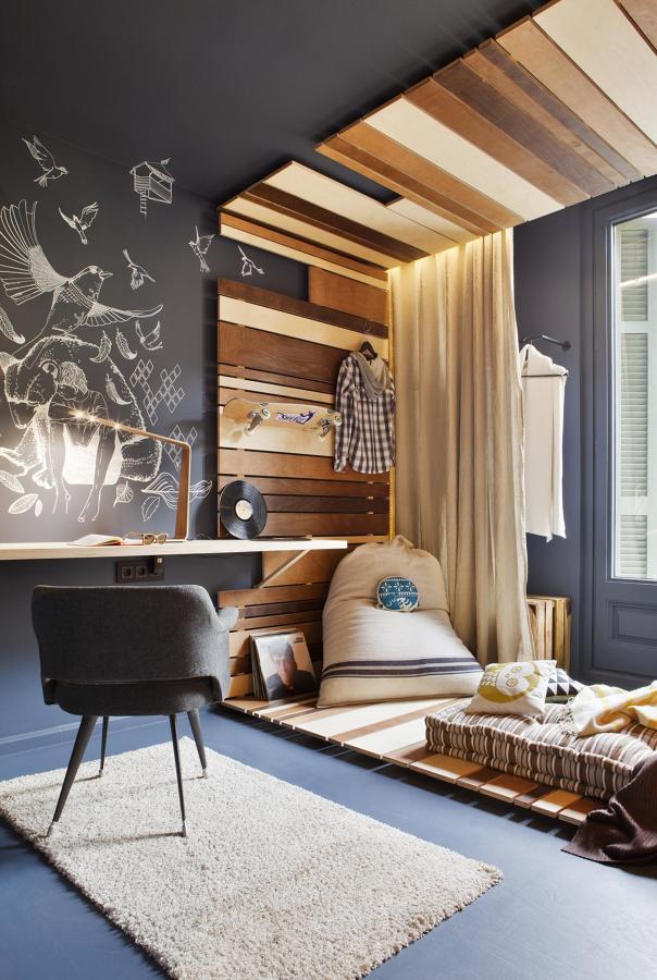 Dormitorio con dos ambientes