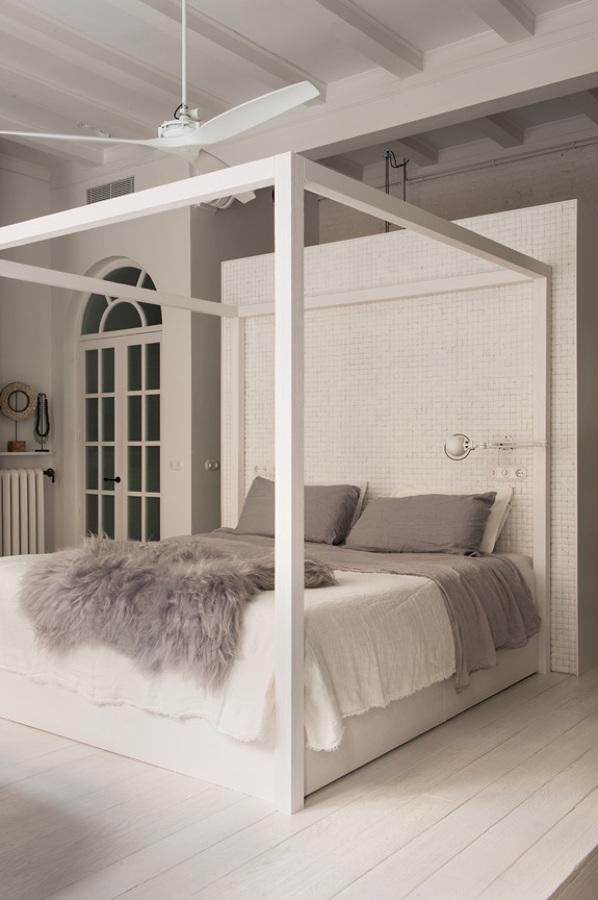Dormitorio con estructura