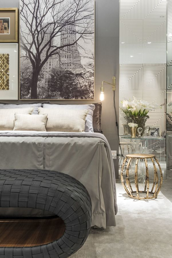 Dormitorio con foto