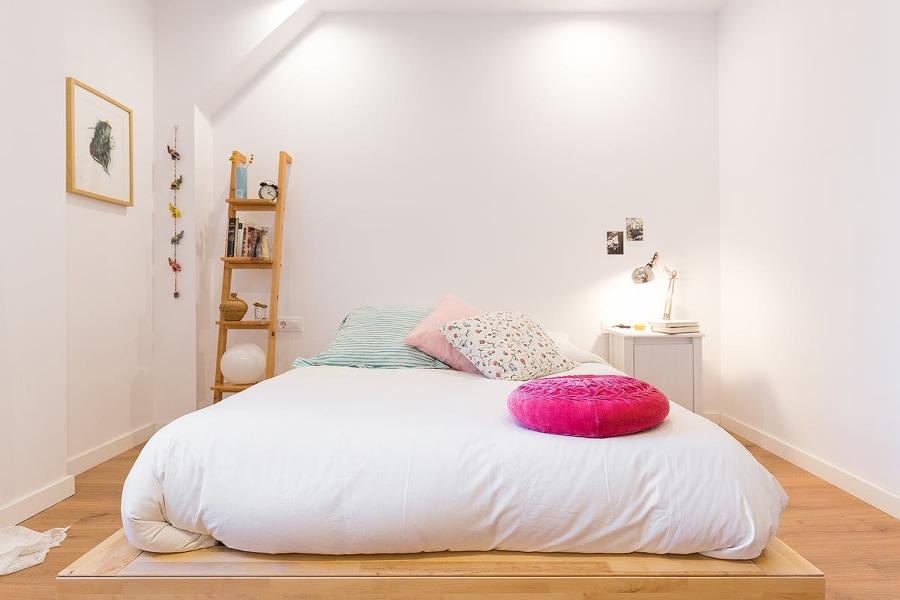 Dormitorio con futón